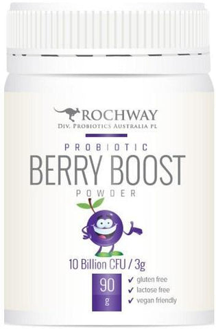 Rochway Organic Probiotic Berry Boost Powder G/F 90g-Health Tree Australia