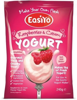 Easiyo Raspberries & Cream Yogurt 240g-Health Tree Australia