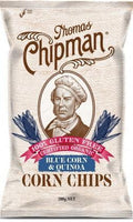 Thomas Chipman Organic Blue Corn & Quinoa Corn Chips G/F 200g