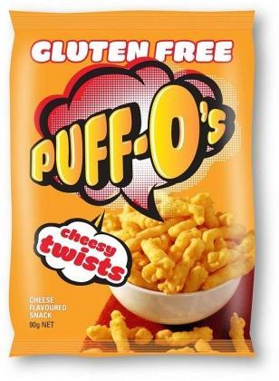 Puff-O's Cheesy Twists G/F 6x90g-Health Tree Australia