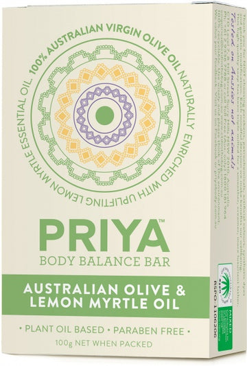 Priya Olive Oil with Lemon Myrtle Soap 100g