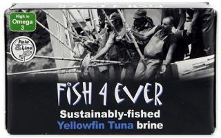 Fish 4 Ever Yellowfin Tuna in Brine 120g-Health Tree Australia