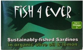 Fish 4 Ever Sardines in Olive Oil & Lemon 120g-Health Tree Australia