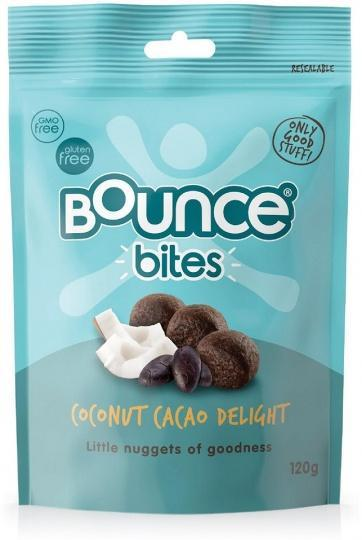 Bounce Coconut Cacao Bites 120g-Health Tree Australia