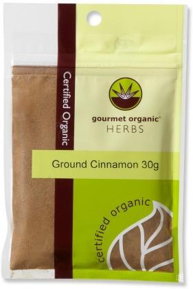 Gourmet Organic Cinnamon Ground 30g Sachet x 1-Health Tree Australia