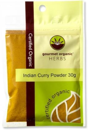 Gourmet Organic Curry Indian Powder 30g Sach x 1-Health Tree Australia