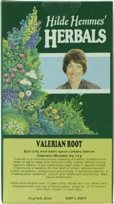 Hilde Hemmes Valerian Root 75gm-Health Tree Australia