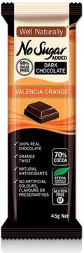Well,naturally S/F Choc Bar Valencia Ornge 16x45gm