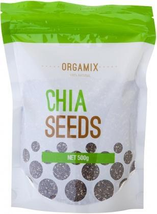 Orgamix Natural Chia Seeds Black G/F 500g-Health Tree Australia