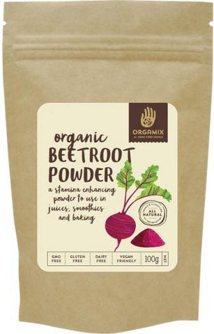 Orgamix Organic Beetroot Powder G/F 100g-Health Tree Australia