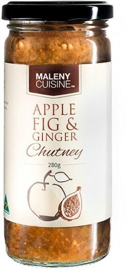 Maleny Cuisine Apple Fig & Ginger Chutney 280gm-Health Tree Australia