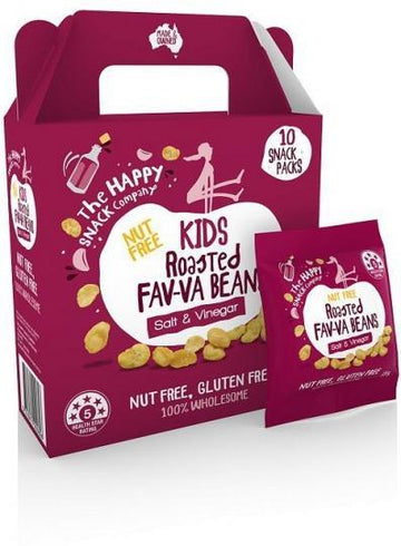 The Happy Snack Company KIDS Fav-va Beans Salt & Vinegar 10x15g Pack