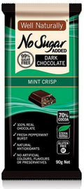 Well,naturally S/F Dark Choc Mint Crisp Block 12x90g