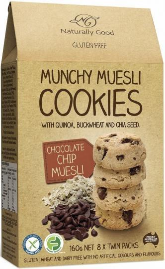 Naturally Good Munchy Muesli Cookie Chocolate Chip G/F 160g