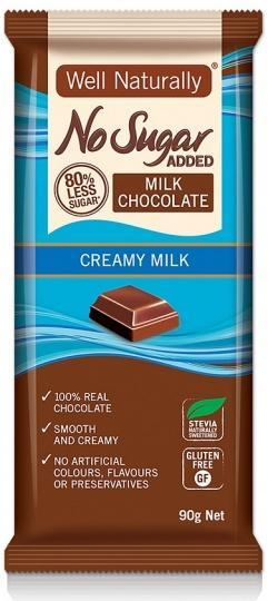 Well,naturally S/F Creamy Milk Chocolate Block 12x90g