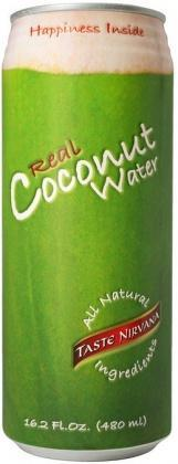 Taste Nirvana Real Coconut Water G/F 12x480ml cans-Health Tree Australia