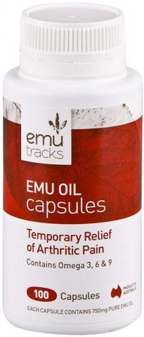 Emu Tracks Emu Oil 750mg 100caps-Health Tree Australia