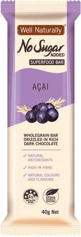 Well,naturally No Sugar Added Acai Superfood Bars 16x40g-Health Tree Australia