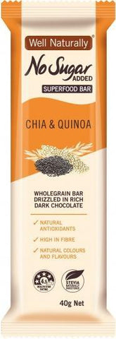 Well,naturally No Sugar Added Chia & Quinoa Superfood Bars 16x40g-Health Tree Australia
