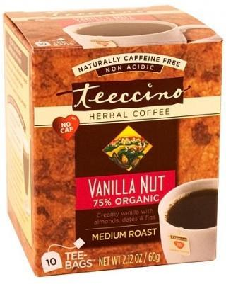 Teeccino Vanilla Nut Herbal Coffee 10 Tee-Bags-Health Tree Australia