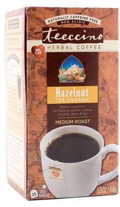 Teeccino Hazelnut Herbal Coffee 25 Tee-Bags