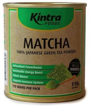Kintra Foods Matcha 100% Japanese Green Tea Powder 110g-Health Tree Australia