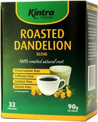 Kintra Foods Roasted Dandelion G/F 32 Filter Bags 90g-Health Tree Australia