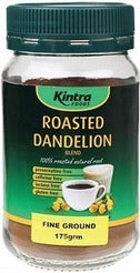 Kintra Foods Roasted Dandelion Blend Fine Ground G/F 175g-Health Tree Australia