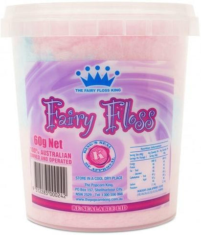 The Popcorn King Fairy Floss Tub 60g-Health Tree Australia