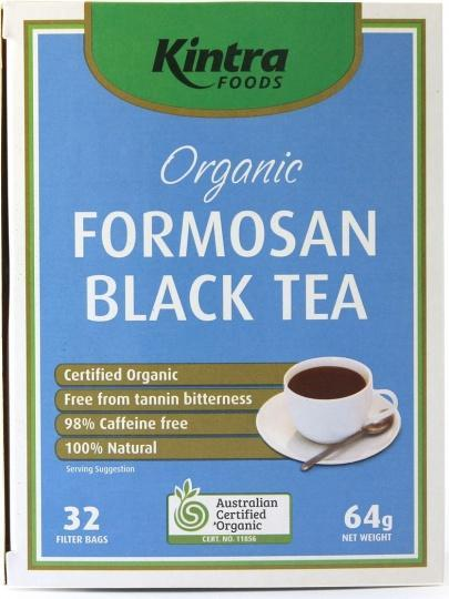 Kintra Foods Organic Formosan Black Tea 32Teabags-Health Tree Australia