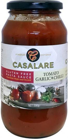 Casalare Pasta Sauce Tomato, Garlic and Chillie 500g-Health Tree Australia