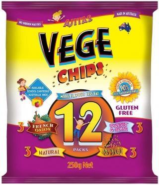 Vege Chips Multi 12 Pack W/F G/F 250gm