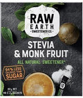 Raw Earth Sweetener Stevia & Monk Fruit All Natural Sweetener (40x2g Sachets in Box) 80g