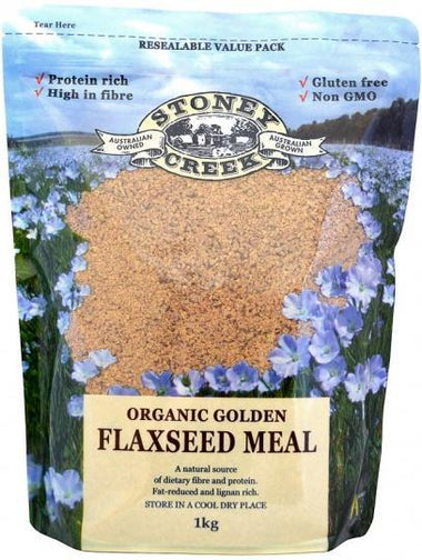 Stoney Creek Organic Golden Flaxseed meal 1Kg-Health Tree Australia