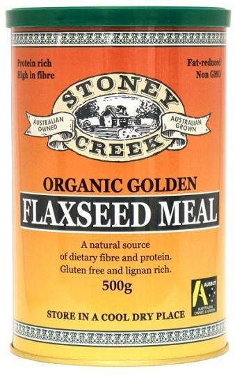Stoney Creek Organic Golden Flaxseed Meal 500gm-Health Tree Australia