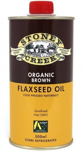 Stoney Creek Organic Brown Flaxseed Oil 500ml-Health Tree Australia