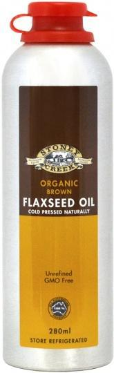 Stoney Creek Organic Brown Flaxseed Oil 280ml-Health Tree Australia