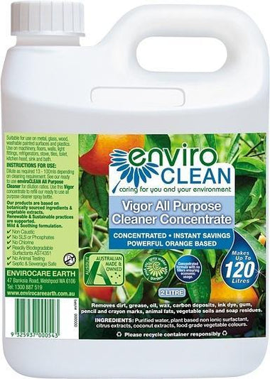 Enviro Care Vigor All Purpose Cleaner 2L New