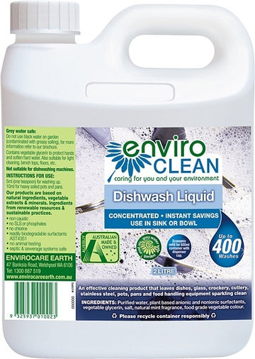 Enviro Care Dish Wash Liquid 2L New