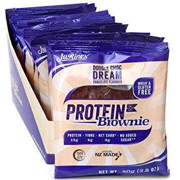 Justine's Protein Brownie Double Choc Dream G/F 80g