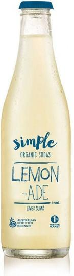 Simple Organic Sodas Lemonade 12x330ml