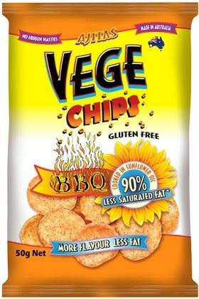 Vege Chips BBQ W/F 50gm-Health Tree Australia
