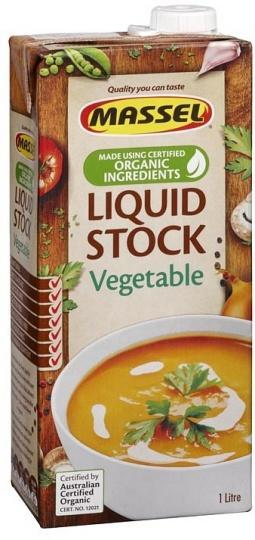 Massel Organic Liquid Vegetable Stock 1L-Health Tree Australia