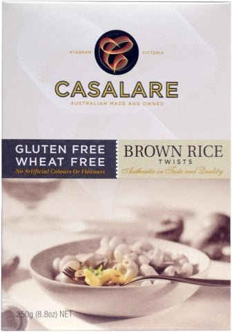 Casalare Brown Rice Twists 250g-Health Tree Australia