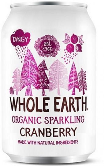 Whole Earth Drink Lightly Sparkling Cranberry Organic 330mL