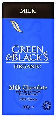 Green & Blacks Milk Chocolate 100g-Health Tree Australia
