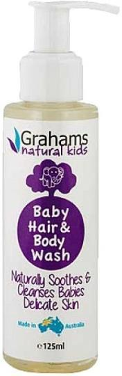 Grahams Natural Baby Hair & Body Wash 125ml