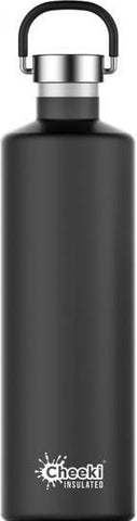 Cheeki Classic Stainless Steel Insulated Matte Black Bottle 1L