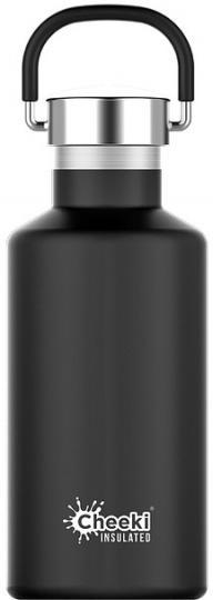 Cheeki Classic Stainless Steel Insulated Matte Black Bottle 400ml