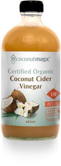 Coconut Magic Organic Coconut Cider Vinegar with The Mother G/F 480ml